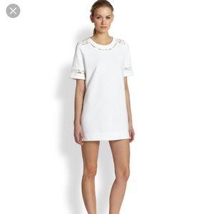Rebecca Taylor Lace Inset Tunic Sweatshirt Dress